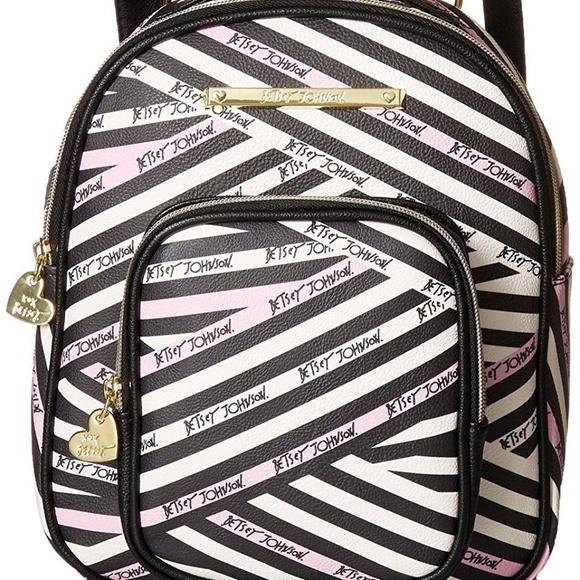 c54085395b0 Betsey Johnson Womens Mini Convertible Backpack Boutique